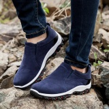 Compare Eachgo Men British Style Outdoor Hiking Climbing No Lace Sneakers Anti Slip Breathable Casual Shoes Blue Intl