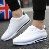 Price Eachgo New Fashion Men Casual Breathable Lace Up Sneakers Running White Shoes White Black Intl Eachgo Online