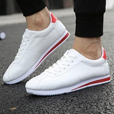 Price Comparisons Of Eachgo New Fashion Men Casual Breathable Lace Up Sneakers Running White Shoes White Red Intl