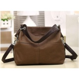 Eachgo New Fashion Retro Leather Women Handbag Khaki Intl Sale