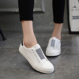 Buy Yi Dihan Edition Solid Color Slip On Shoe Lace Loafers Canvas Shoes White Oem