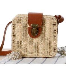 Review Eb 28Fashion Straw Women Shoulder Bag Hot Sell Large Capacity Beach Bag Grass Women Handbag Durable Ladies Tote Women Bags Intl China