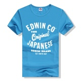 Coupon Edwin Co Japanese 2017 Custom Casual Cotton O Neck Short Sleeve T Shirt In Men Blue Intl