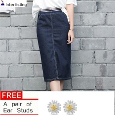 Compare Elastic Waist Denim Skirt Midi Woman Slim Pencil Jeans Skirts Plus Size S 3Xl Intl Prices