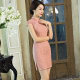 Sale Elegant Artistic G*Rl S Plaid Elegant Dress Cheongsam 1836 Oem Wholesaler