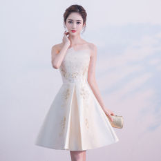 Store Debutante New Style B**B Tube Top Dinner Party Dress Evening Gown Champagne Color Short Oem On China