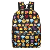 The Cheapest Emoji Sch**L Bag Fashion Leisure Simple Stylish Sch**L Backpack For Students (Black) Intl Online