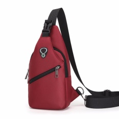 Encontrar Men S Solid Casual Sports Waterproof Shoulder Bags For Hiking 31 16 8Cm Red Intl Oem Discount
