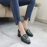 Retail British Spring And Autumn New Style Thick With Shoes Green