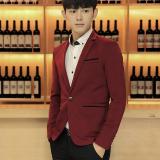 Sale The British Spring Men S Blazer Purplish Red Color China