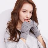 Eozy Fashion Knitted Gloves Women Autumn Winter Outdoor Thick Warm Fingerless Gloves Mittens Grey Intl Discount Code