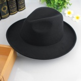 Eozy Trendy Men S Casual Fedora Hat Panama Cap Korean Style Male Autumn Winter Outdoor Soft Warm Woolen Hat Top Hat Fashion Accessories Black Intl Eozy Cheap On China