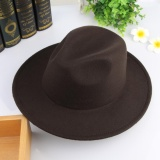 Wholesale Eozy Trendy Men S Casual Fedora Hat Panama Cap Korean Style Male Autumn Winter Outdoor Soft Warm Woolen Hat Top Hat Fashion Accessories Coffee Intl