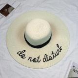 Compare Price Eozy Trendy Women S Summer Beach Straw Hat Wide Brim Floppy Hat Sun Cap Ivory Intl On China