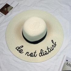 Retail Price Eozy Trendy Women S Summer Beach Straw Hat Wide Brim Floppy Hat Sun Cap Ivory Intl