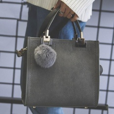 Who Sells Era Women Square Handbag Pu Tote Bag Large Shoulder Messenger Bags With Fur Ball Intl Cheap