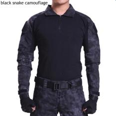 Price Compare Esdy Brand Camouflage Long Sleeve Frog Suit Men Tops Tactical Tool Cargo T Shirt Army Military Combat Tee Black Snake Camo