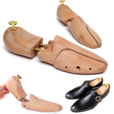 Eu 45 46 1Pair Mens Schima Wood Shoe Tree Shaper Keeper Wooden Stretcher On China