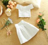 Sale Europe Station Sweet Elastic Horizontal Neck Bandage Suit White Suit White Suit Oem On China