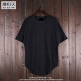 Where To Shop For Men S Loose Short Sleeve Solid Long T Shirt Black Black