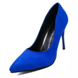 European And American Suede Black Thin Heeled Wedding Shoes High Heeled Shoes Blue Other Cheap On China
