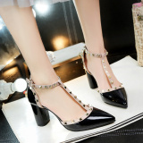 List Price Women S European And American Style Lace Up High Heeled Sandals Black Black Oem