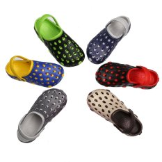 Discount Eva Men Clog Summer Croc Beach Shoes Hollow Out Sandals Hole Breathable 43 Deep Blue Intl