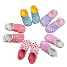 Promo Eva Women Clog Summer Croc Beach Shoes Hollow Out Sandals Hole Breathable 36 Blue Intl
