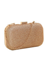 Evening Party Glitter Chain Hand Bags Clutch Box Gold Free Shipping