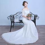Best Buy Ever Dresses Ivory Off The Shoulder Lace Wedding Gowns Mermaid Appliques Wedding Dress With Train Intl