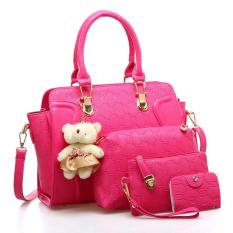 Review Women S Stylish Bags Set For The Middle Aged Rose Color On China