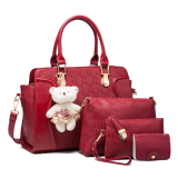 Women S Stylish Bags Set For The Middle Aged Wine Red Color Price
