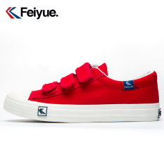 Cheapest Leap Retro Men And Women Couple S Loafers Canvas Shoes Red