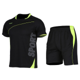 Retail Men S Short Sleeve Quick Drying Training Fitness Shuttlecock Clothes Xlf018