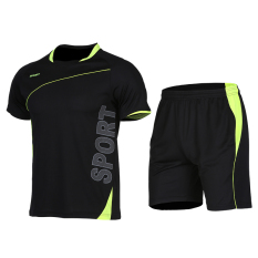 Cheap Men S Short Sleeve Quick Drying Training Fitness Shuttlecock Clothes Xlf018