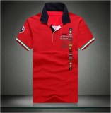 Store Men S European Style Extra Large Size Embroidery Polo Shirt Red Red Other On China