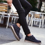 Get The Best Price For Fahison Men Comfortable Hand Stitching High Top Suede Oxfords Ankle Boots Intl