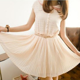 Best Rated Fairy The Chiffon Short Sleeved Dress Fairy Dress Beige