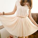 Fairy The Chiffon Short Sleeved Dress Fairy Dress Beige Shopping