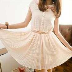 Sale Fairy The Chiffon Short Sleeved Dress Fairy Dress Beige Oem Wholesaler