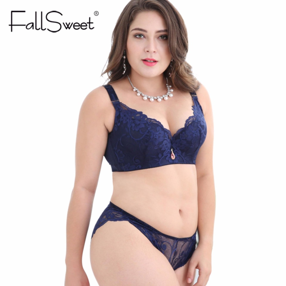 f7512ad5892 FallSweet Push Up Lace Bra Set for Women PLus Size Bra and Panties Set -  intl