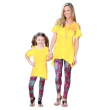Buying Family Fitted Fall New Arrival Family Matching Outfits Pants Capris Leggings For Mother And Daugther Kid Intl