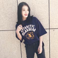 Sale Loose Han Chun White T Shirt Short Sleeve Neckline Blue Blue Oem On China