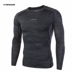Fannai Men S Sports Gym Base Layers Compression Tops Breathable Fabric Training Running Tee Long Sleeves O Neck Workout Tight T Shirts Intl Sale