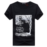 Fantasy Youth The Diary Of The Tree Custom Design Casual Cotton O Neck Short Sleeve T Shirt In Men Black Intl Deal