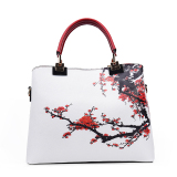 Best Rated Fashion Blue And White Shoulder Big Bag Wine Red Color