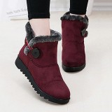 The Cheapest Fashion Buckle Comfortable Keep Warm Soft Winter Ankle Snow Boots For Women Intl Online