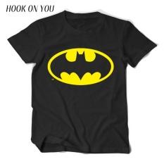 New Fashion Causal Cotton Hot Cartoon Q Batman Super Heros T Shirt Men Short Sleeve Cuteshirts T Shirt Print 002 Black Intl