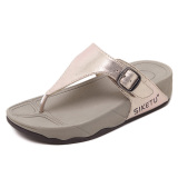 Where To Buy Female With Flip Flops Slippers Light Yellow Gold Color