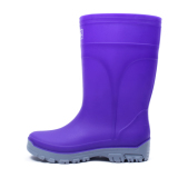 How To Buy Fashion Jelly Tube Rain Boots Violet Color 338